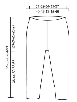 Выкройка лосин спицами для девочки от Drops Design
