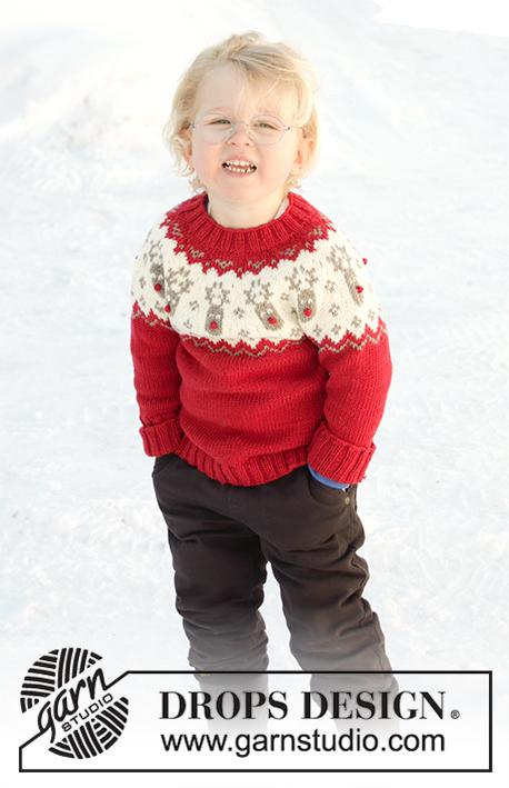 DROPS Children-32-10 - Джемпер: Красный нос